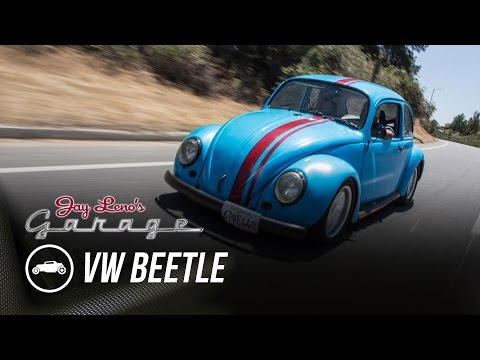 Jay leno drives a blue beetle with a wankel mind over motor for Garage volkswagen biarritz