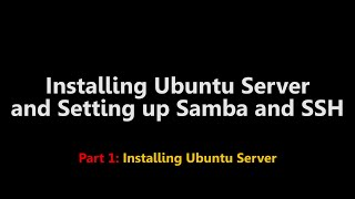 Part 1 of 2This video demonstrates how to install Ubuntu Server onto a PC.Part 2 goes through setting up Samba and connecting to the server using SSHPart 2: http://youtu.be/fjopI4BPIPEWARNING: YOU WILL LOSE ALL INFORMATION ON YOUR HARD DRIVE IF YOU DO THIS.