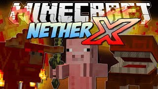 Minecraft | NETHER X! (Can you survive in the BRAND NEW Nether?!) | Mod Showcase