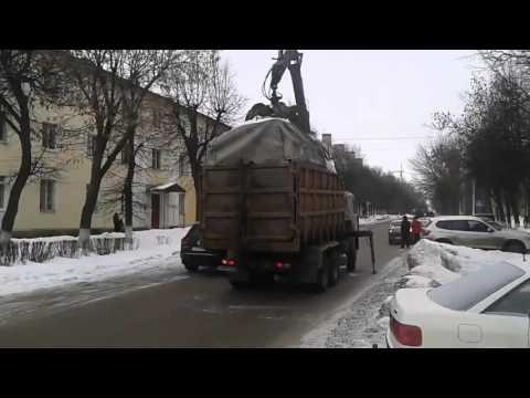 Суровый эвакуатор для ГАЗелей - это нечто... ))