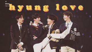 Video hyung love | bangtan's hyung line pt.2 MP3, 3GP, MP4, WEBM, AVI, FLV September 2019