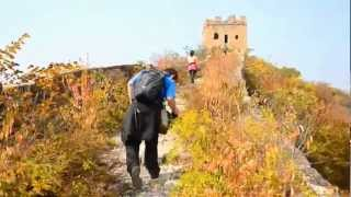 Hiking along the Great Wall 长城 near BeiJing