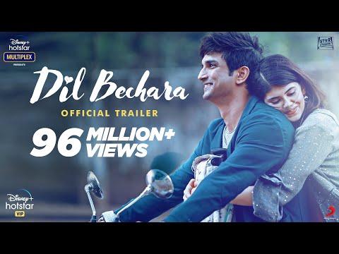 மறைந்த நடிகர்  சுஷாந்த் தின் நடிப்பில் வெளிவரவிருக்கும் Dil Bechara திரைப்படத்தின் Trailer  Dil Bechara | Official Trailer | Sushant Singh Rajput | Sanjana Sanghi | Mukesh Chhabra | AR Rahman