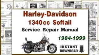 8. Harley Davidson Softail EVO 1340cc Motorcycles Service Repair Manual PDF 1984-1999