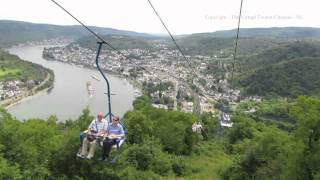 Boppard Germany  city photo : Boppard Sesselbahn - Chair Lift Going Down - The Middle Rhine in Germany 2