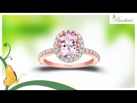 2.00ct. Oval Morganite Rose Gold Engagement Ring By Barkev's - MOC-8027LP