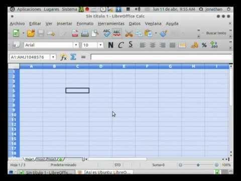 Video 1 de LibreOffice: Tutorial Calc parte 1