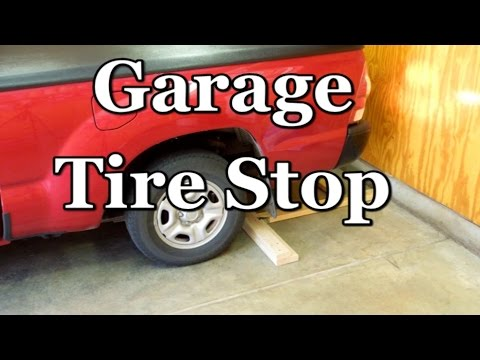 Vehicle Wheel Stop - Positive Parking Indicator For your Garage