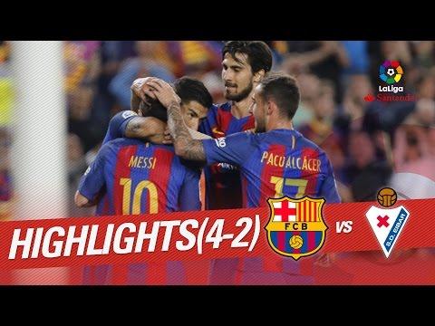 Resumen de FC Barcelona vs SD Eibar (4-2)