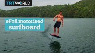 Motorised surfboard making waves
