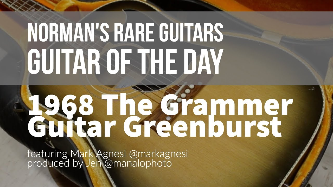 Norman's Rare Guitars – Guitar of the Day: 1968 The Grammer Guitar Greenburst