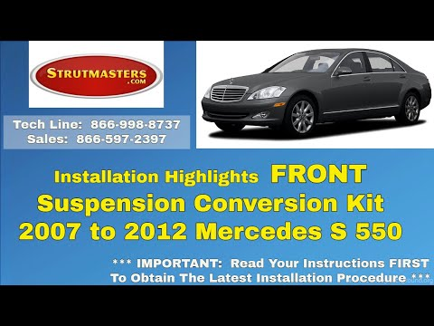 2007-2012 Mercedes S 550 Front Strut Conversion