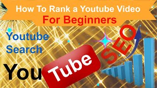 How To Rank a Youtube Video For Beginners  How to Get Your Video To Page One  Youtube Ranking is a how to video that shows you how to make little changes that will improve your video's ranking a lot. Watch the video to see what these changes are and how simple it is to implement them and rank your videos to page one of Youtube in many cases.https://youtu.be/GOoDhciTGXghttps://www.youtube.com/channel/UCFBxyLMer62Dr4cmdMeQP4A