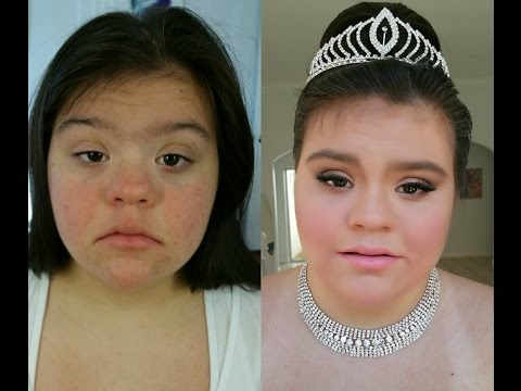 Watch video Down Syndrome: Princess Cinderella Makeup Tutorial