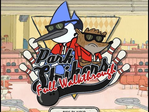 Regular Show: Park Strikers FULL Walkthrough with Pops *HD*