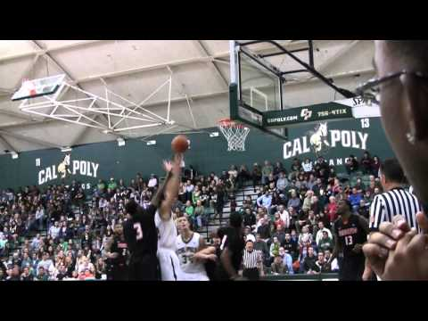 Cal Poly Men's Basketball Highlights versus Pacific (Feb. 7, 2013)