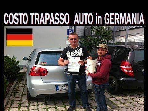 quanto costa il passaggio di proprietà in germania?