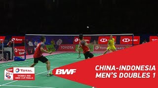 Video Thomas Cup | MD1 | LIU/ZHANG (CHN) vs GIDEON/SUKAMULJO (INA) | BWF 2018 MP3, 3GP, MP4, WEBM, AVI, FLV September 2018