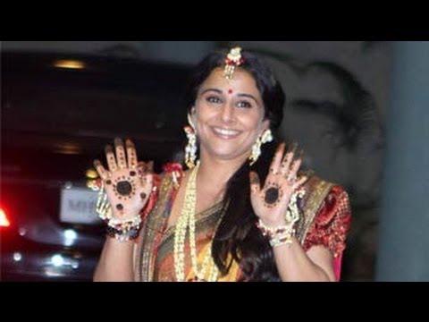 Vidya sticks to traditional Sabyasachi sari for me