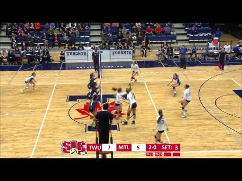2015 CIS Women's Volleyball Championship SF1: Trinity Western vs Montreal