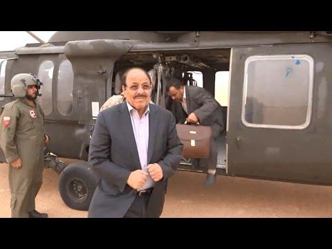 شاهد... لحظة وصول الفريق علي محسن الأحمر الى البقع بمحافظة صعدة