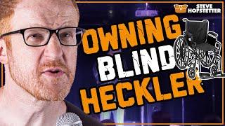 Gun-toting Blind Heckler in a Wheelchair Threatens Comedian - Steve Hofstetter