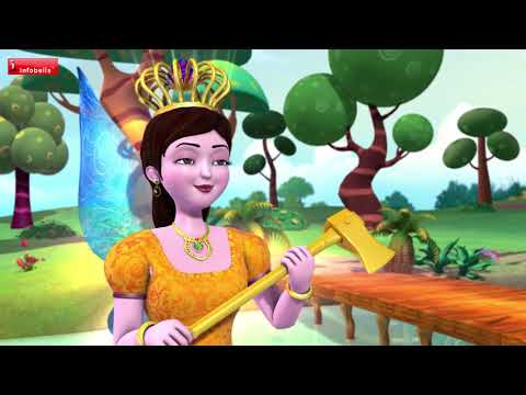 The Truthful Woodcutter | Hindi Stories for Kids | Infobells