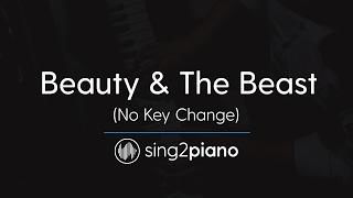 Video Beauty & The Beast (No Key Changes - Piano Karaoke) Ariana Grande & John Legend MP3, 3GP, MP4, WEBM, AVI, FLV Juli 2018