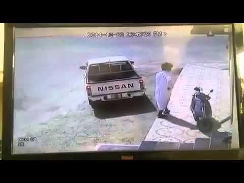 محاولة فاشلة لسرقة دراجة نارية في وضح النهار