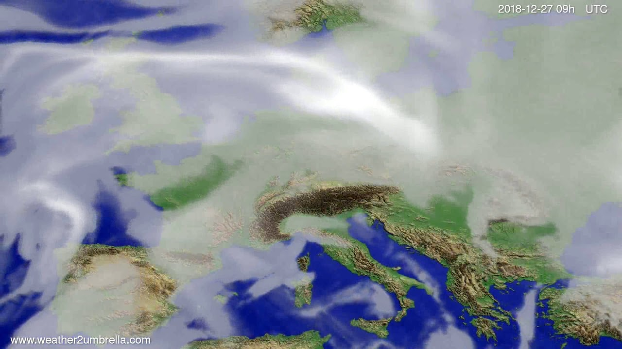 Cloud forecast Europe 2018-12-23