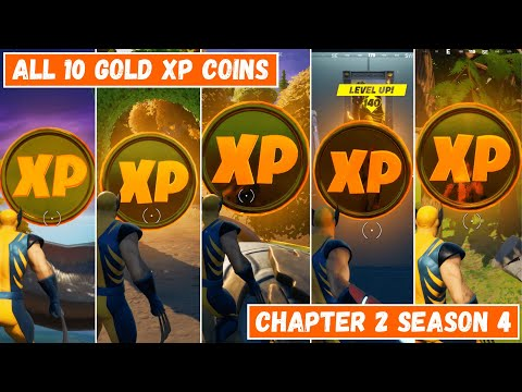 All 10 Gold XP Coins Locations in Fortnite Chapter 2 Season 4! - Good as Gold Punch Card