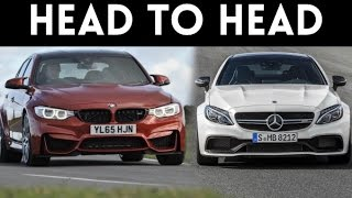 Sports Car Fight!  '17 Mercedes C63 AMG S Coupe vs '17 BMW M3 Competition Package by Vehicle Virgins