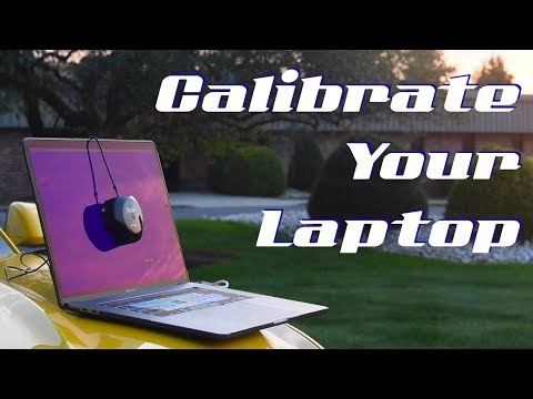 Calibrating your Laptop display for perfect colour on the road