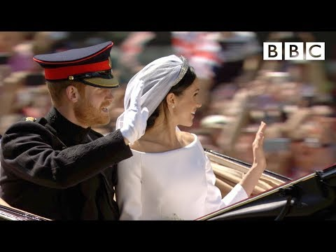 Dress, vows, kiss! Prince Harry and Meghan Markle   Highlights at Windsor - The Royal Wedding - BBC