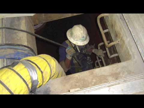 Pressure Washing A Confined Space Underground Tank.mov