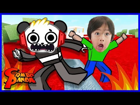 Roblox Lava Breakout I FOUND RYAN ToysReview Let's Play with Combo Panda (видео)