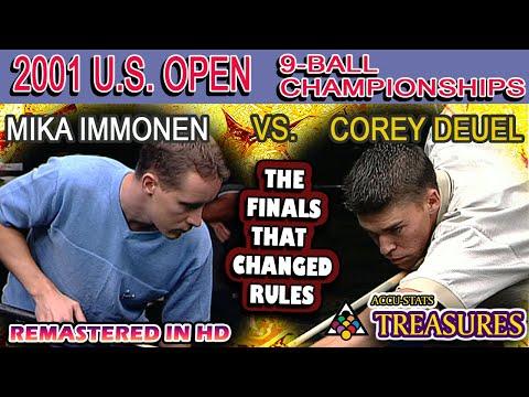 9-BALL FINALS: Mika IMMONEN vs Corey DEUEL - 2001 26th U.S. OPEN 9-BALL CHAMPIONSHIPS