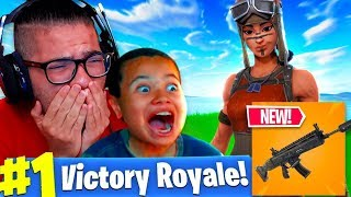 EPIC SURPRISED ME WITH THE RENEGADE RAIDER!! (MY FAVORITE SKIN!) *I CRIED* NEW WEAPON! FORTNITE BR!