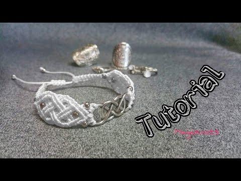 bracciale celtico in macramè