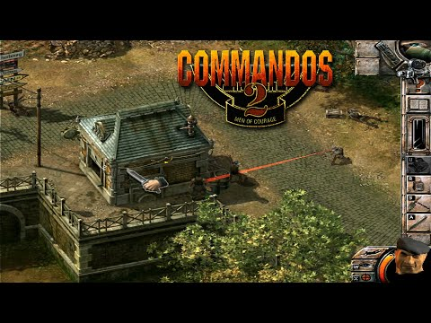 COMMANDOS 2 Men of Courage  | Training Camp 2 - full gameplay walkthrough with commentary (HD)