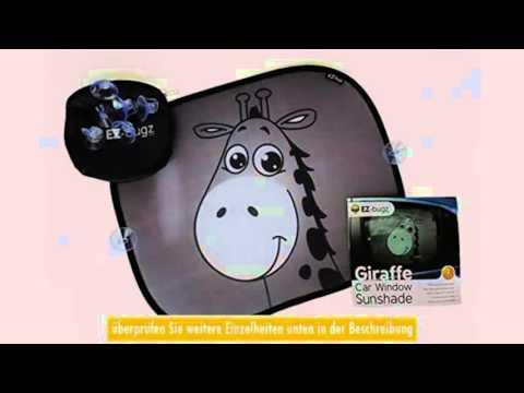 Auto Sonnenschutz Baby GiraffenDesign von EZBugz 2 Stk Sonnenblende Schutz fr Kinder in Babyschale A