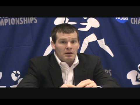 Coach Tom Brands (Iowa) press conference after Iowa won the 2009 NCAA team title