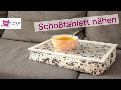 Schoßtablett nähen aus Bilderrahmen – DIY Eule