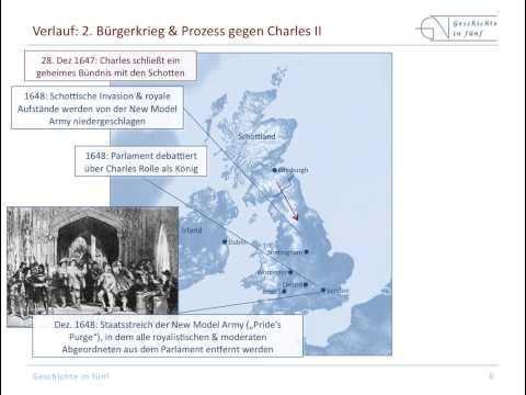 Englischer Bürgerkrieg (1642-1651) zwischen Parlament ...