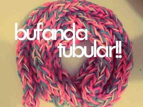DIY♥ BUFANDA TUBULAR CON LOS DEDOS / TUBULAR SCARF WITH FINGERS
