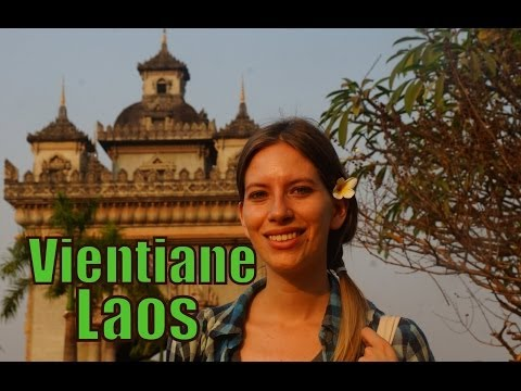 Our first impressions traveling to Vientiane, Laos travel video