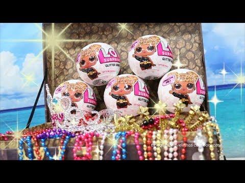Peppa Pig português - Bonecas LOL Surpresa Série Glitter - Bonecas Novas Com Brilho Ovo Surpresa -Brinquedonovelinhas