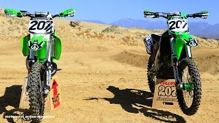 3. Sean Collier's KX500 versus KX450 with Motocross Action Magazine