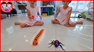 Video หนูยิ้มหนูแย้ม | แมงมุมตะขาบบังคับ | รีวิวของเล่น EP47 MP3, 3GP, MP4, WEBM, AVI, FLV April 2019