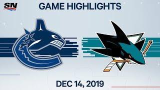 NHL Highlights   Canucks vs Sharks – Dec. 14, 2019 by Sportsnet Canada